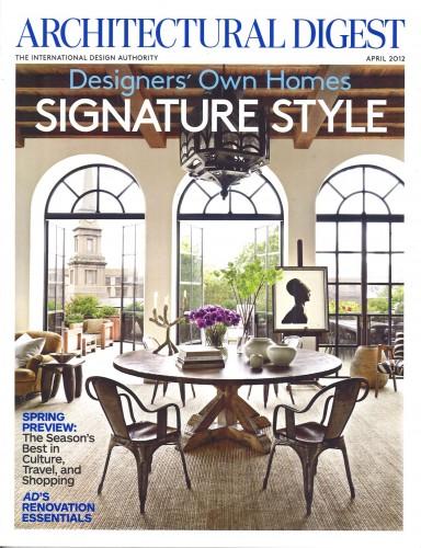 Architectural Digest – April 2012