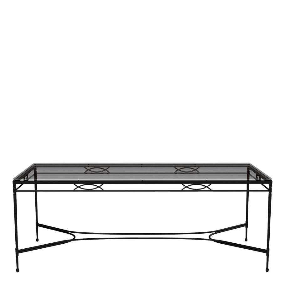 Amalfi Grande X Glass Top Dining Table Rectangle 203