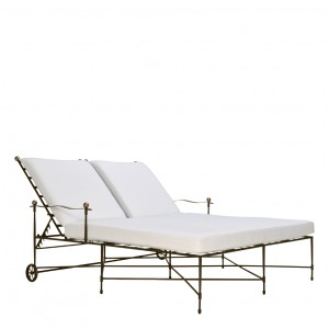 Amalfi double chaise lounge with arms janus et cie for Amalfi chaise lounge