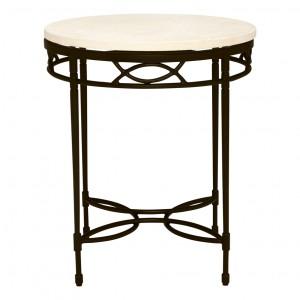 Amalfi Stone Top Side Table Round 51 Janus Et Cie