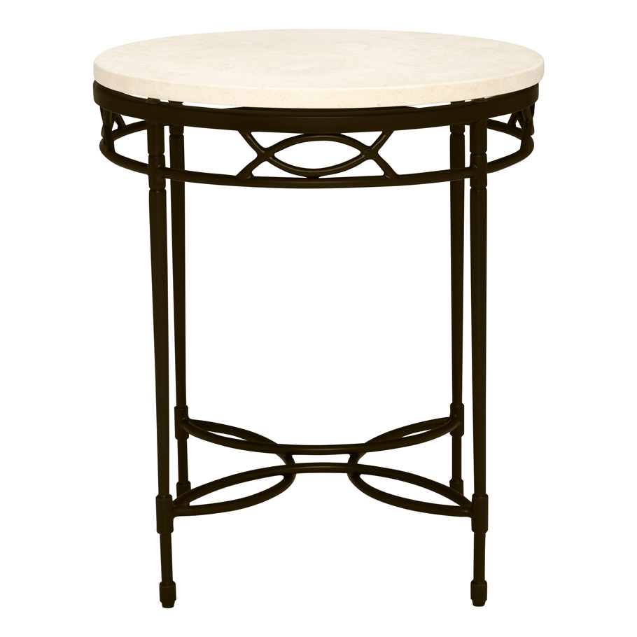 Amalfi Stone Top Side Table Round 51 J Et Cie