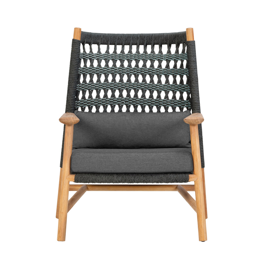 Anatra Teak High Back Lounge Chair