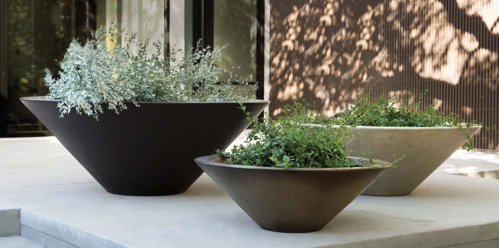 Image Hiragata Planters: Sleek, Modern Vessels