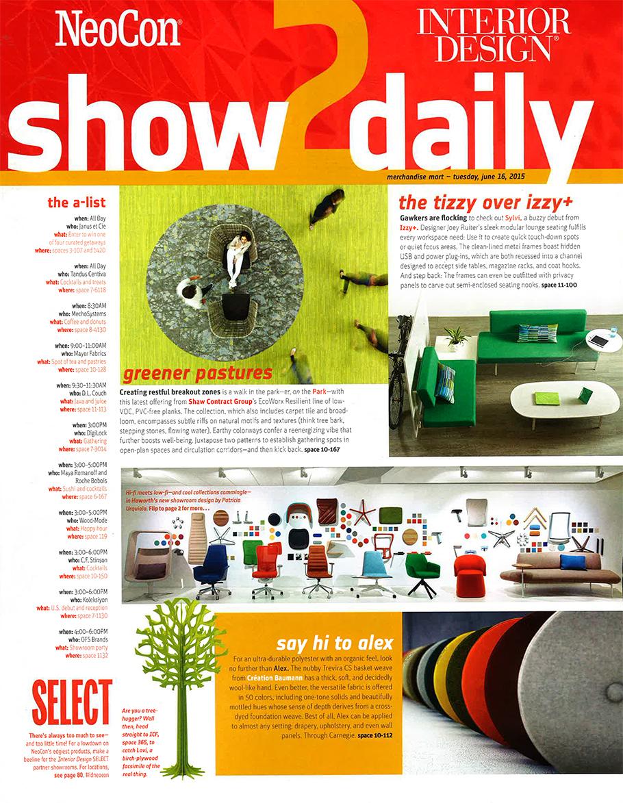 Interior Design Neocon Show Daily June 16 2015 Janus