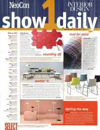 Interior Design NeoCon Show Daily 1 - June 2016