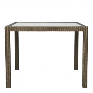 Janusfiber glass top dining table square 99 janus et cie for Spl table 99 00