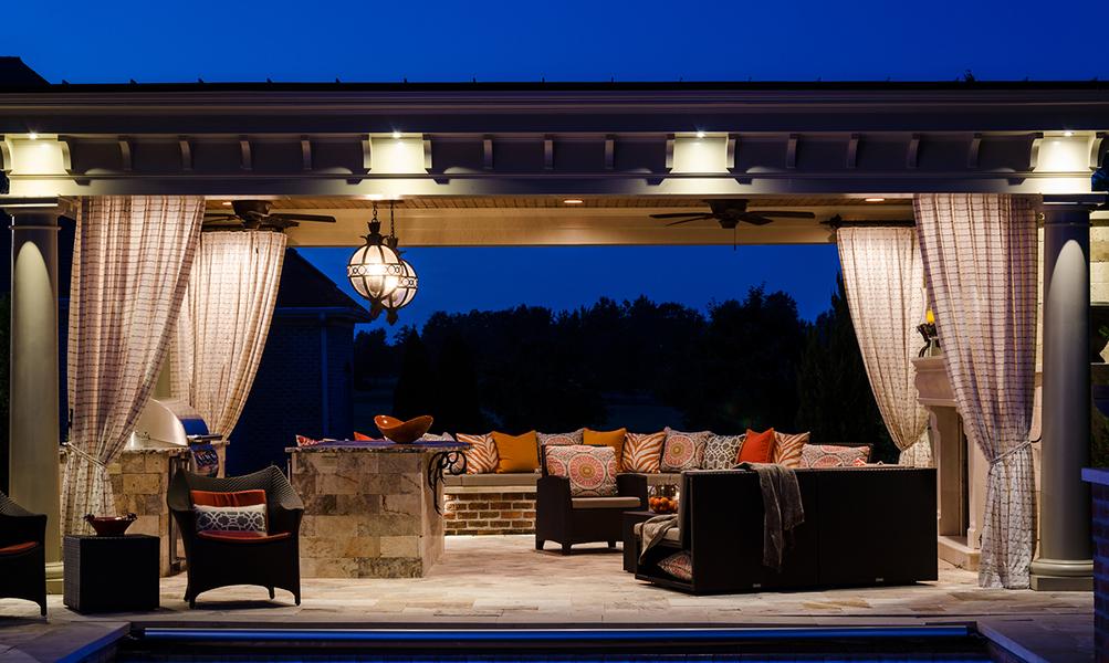 Image Slideshow Image: JSI Wisor Outdoor Living 10 2 2013 Pavilion Evening 1