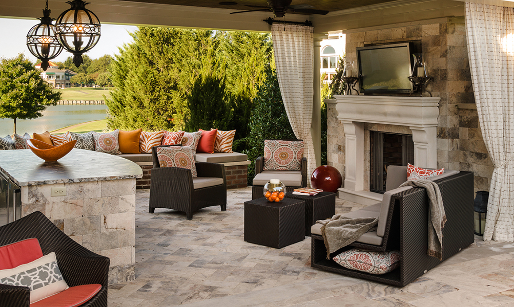 Image Slideshow Image: JSI Wisor Outdoor Living 10 2 2013 Pavilion Seating Afternoon 1