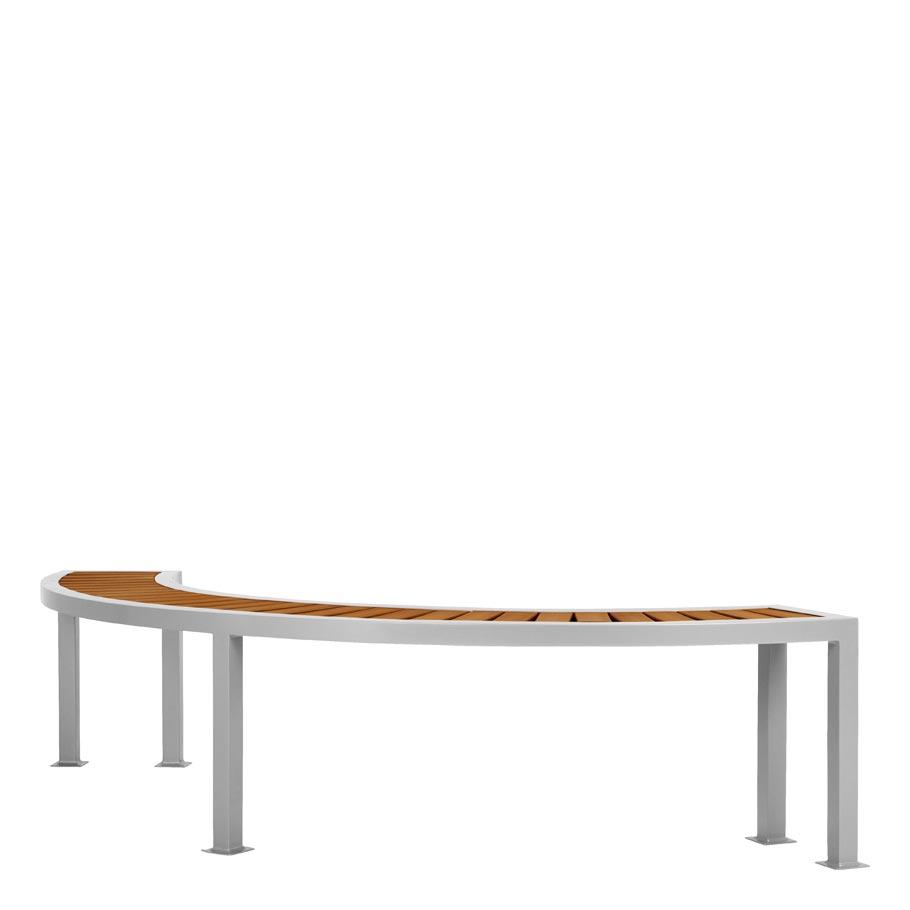Koko II JANUSwood Curved Backless Bench