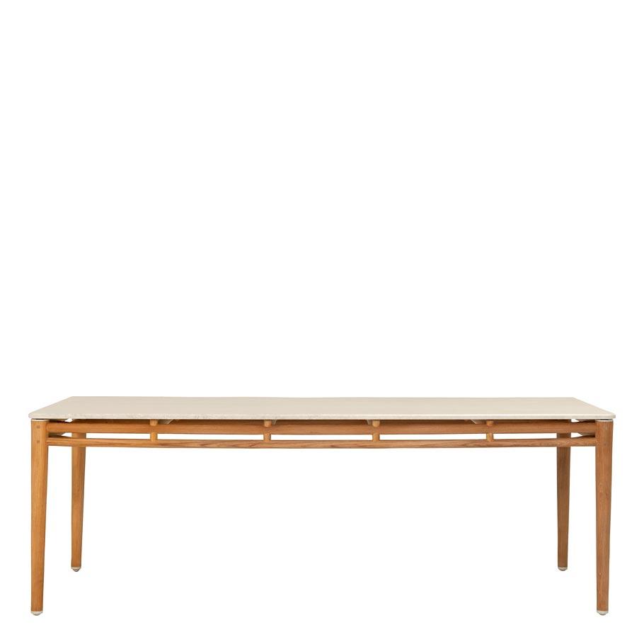 KONOS STONE TOP DINING TABLE RECTANGLE JANUS Et Cie - Stone top rectangular dining table