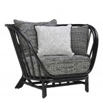 Kyoto rattan lounge chair janus et cie for Oriental furniture montreal
