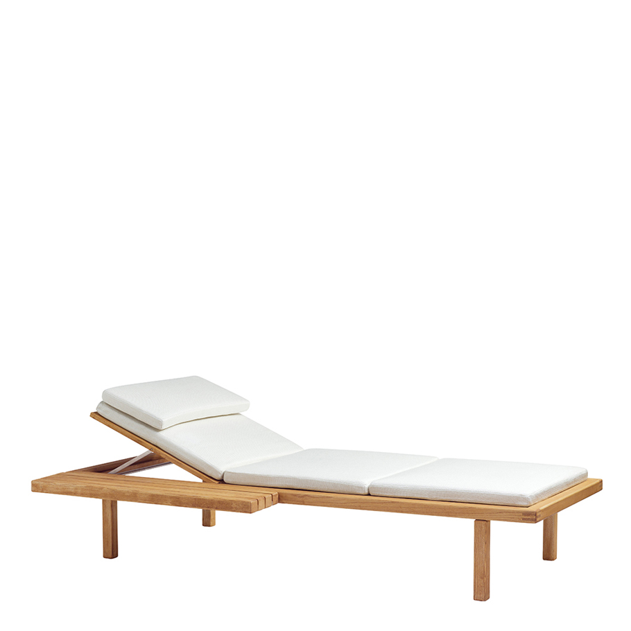 VIS A VIS CHAISE LOUNGE WITH SIDE TABLE - JANUS et Cie